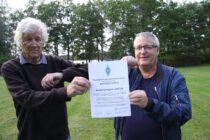 Distriktshedersdiplom överlämnat till Anders Ljunggren, SA0CCA