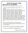 SSA-bulletinen den 26 April 2020 på SK7RGM