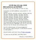 SSA-bulletinen den 10 Maj 2020 på SK7RGM