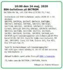 SSA-bulletinen den 24 Maj 2020 på SK7RGM