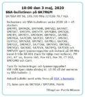 SSA-bulletinen den 3 Maj 2020 på SK7RGM