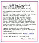 SSA-bulletinen den 17 Maj 2020 på SK7RGM