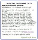 SK7SSA – bulletinen på SK7RGM 1 Nov. 2020 + ny Bulletinläsare sökes …