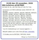 SK7SSA – bulletinen på SK7RGM 29 Nov. 2020