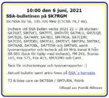 SK7SSA – bulletinen på SK7RGM den 6 juni 2021.
