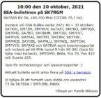 SK7SSA – bulletinen på SK7RGM den 10 oktober 2021.