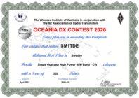 Oceania DX-contest (SSB 2-3/10, CW 9-10/10)
