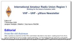 Nytt IARU-R1 VUSHF newsletter