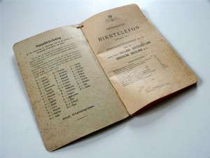 Telefonkatalog 1904 bokstavering