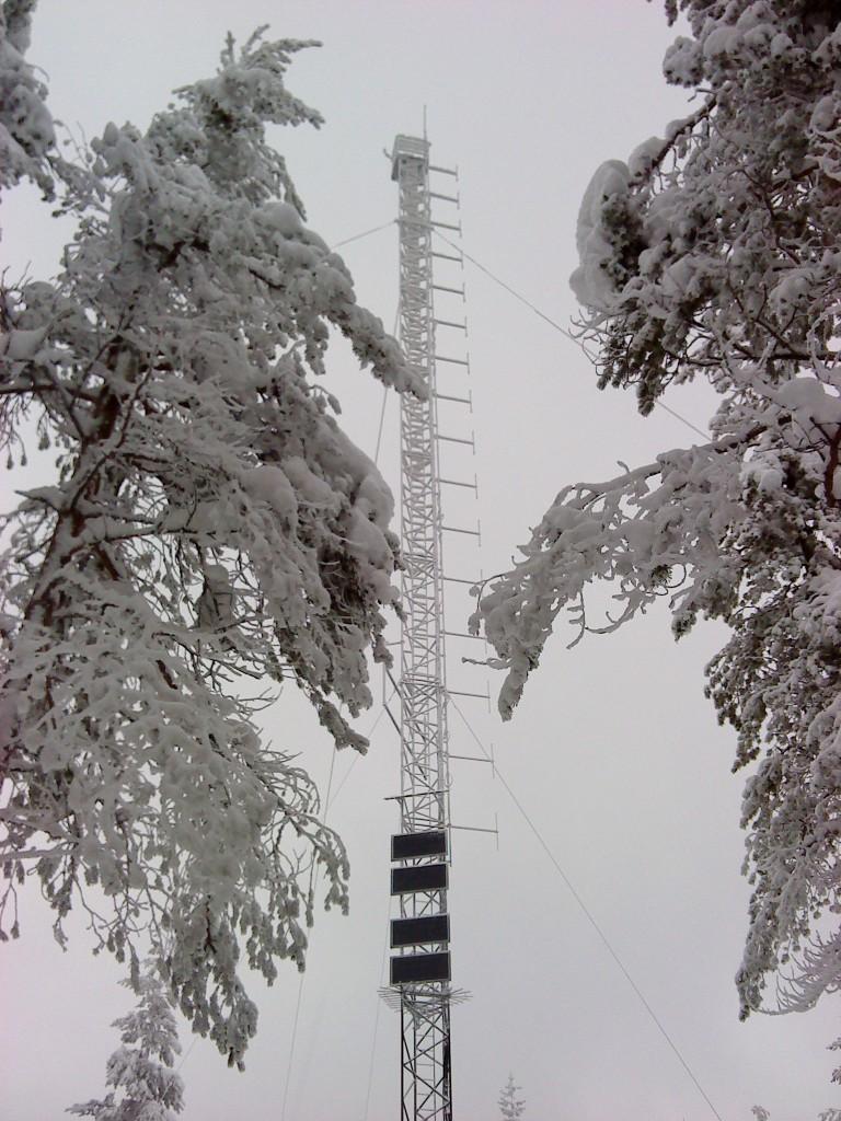 Dagsfärsk bild (2014-02-15) av Leksandsrepeatern SK4RUV.