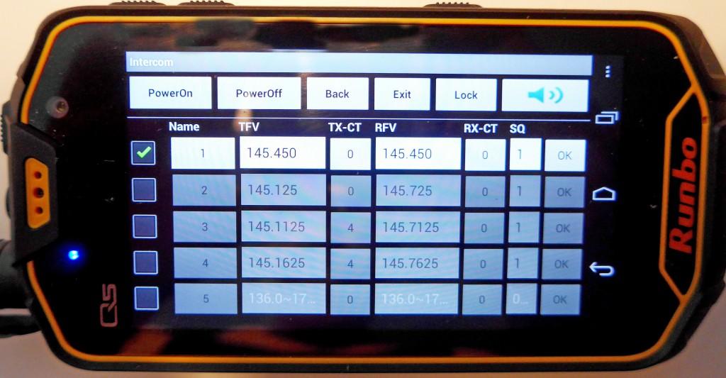 Runbo Q5, frekvensinställning