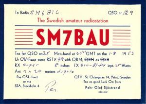 SM7BAU 1953