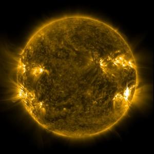 Solaktivitet i början av juli 2012. FOTO: NASA