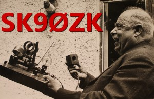 Ove Mogensen, 1892 - 1964, bildade Falu Radioklubb 1924. Bilden är tagen omkring 1960-1962. Han hade privat signalen SMZO, och Falu Radioklubb hade signalen SMZK