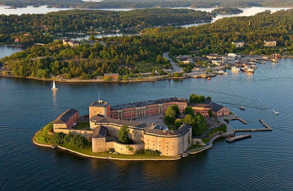 Vaxholms fästning, platsen för Täby Sändareamatörers fieldday den 23 augusti.