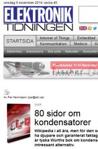 Elektroniktidningen 2014-11-05