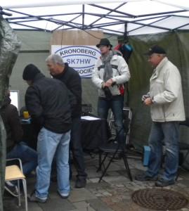 Kronobergs Sändareamatörers monter under teknikdagen.