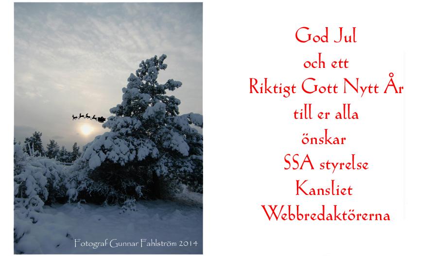 SSA julkort 2014, copyright Fotograf Gunnar Fahlström