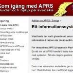 aprssweden.se hittar du på nätet. Där finns nödvändig information för att komma igång.