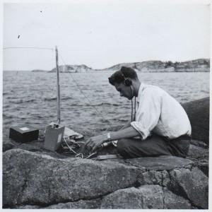 Sture, SM6AZB strandsatt på en öde ö vid Åstölägret.