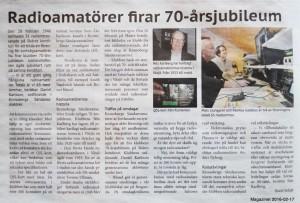 SK7HW 70 år artikel